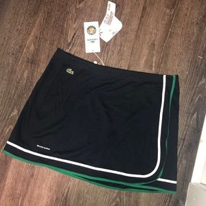 NWT Lacoste wrap around navy tennis skirt